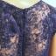 Granatowa asymetryczna suknia wieczorowa r M