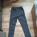Granatowe spodnie w kropki 32 34 xs