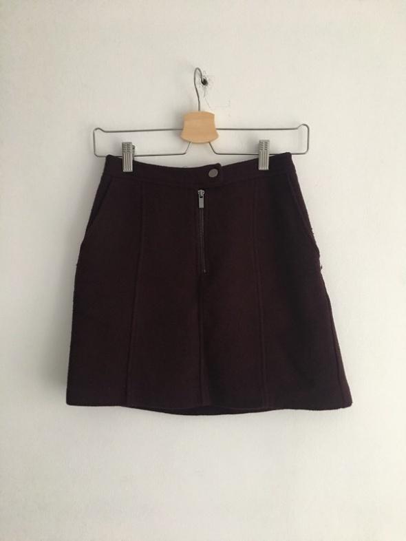 Bordowa trapezowa spódniczka New look xs s