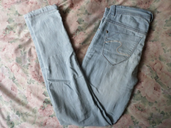 spodnie jeansy jasne rurki pepco 40 L...