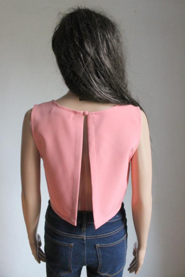 Bluzeczka top crop top pudrowy róż r M...