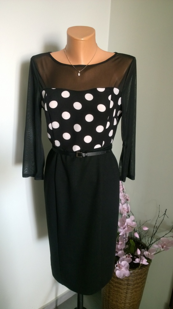 sukienka black white M...