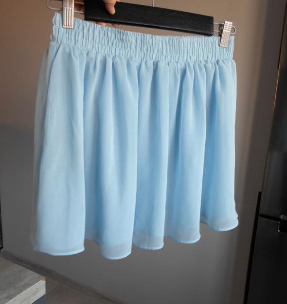 Glamorous spódniczka mini tiulowa baby blue tiul rozkloszowana...