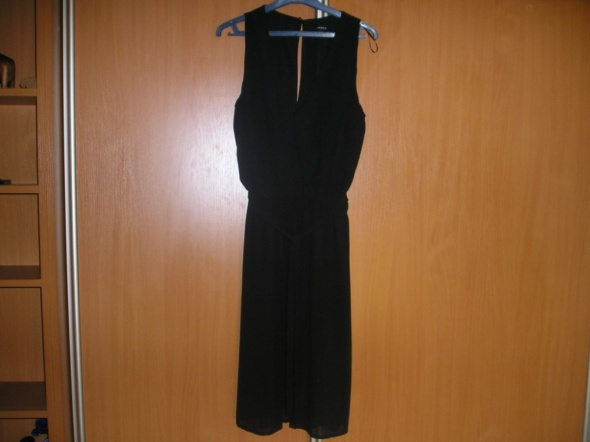sukienka mgiełka midi mała czarna 36 S Lindex