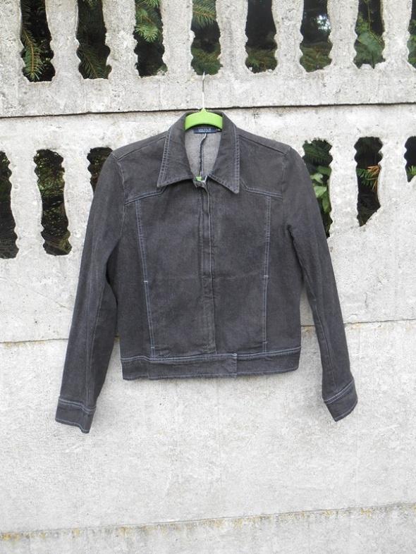 Jeansowa katana 38 M Kurtka czarna wiosna jesień