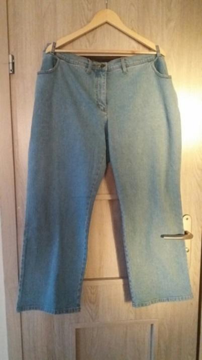 Jasne spodnie jeansy 48 50 52 54