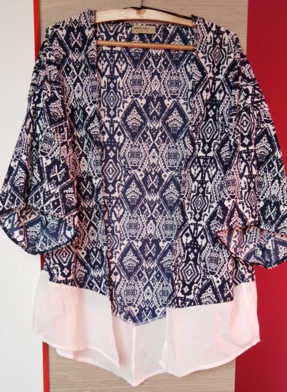 Nowe granatowe kimono w azteckie wzory Butik...