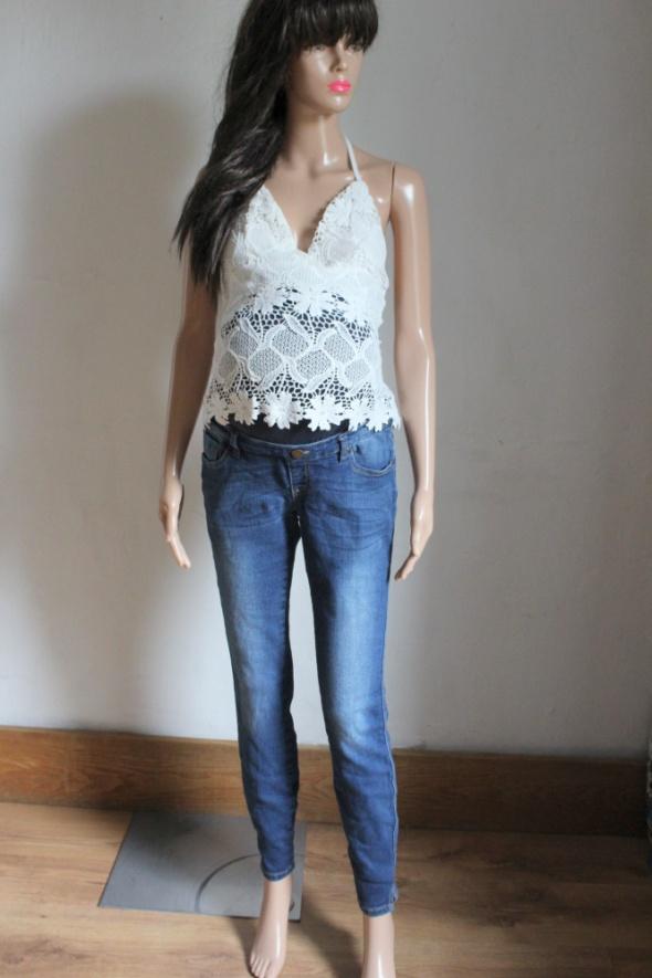 Jeansowe spodnie ciążowe elastyczne r 42