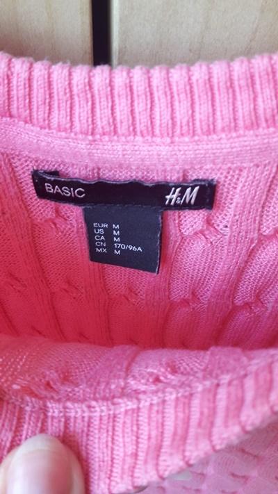 H&M lekko asymetryczny sweterek na jesień i zimę S M