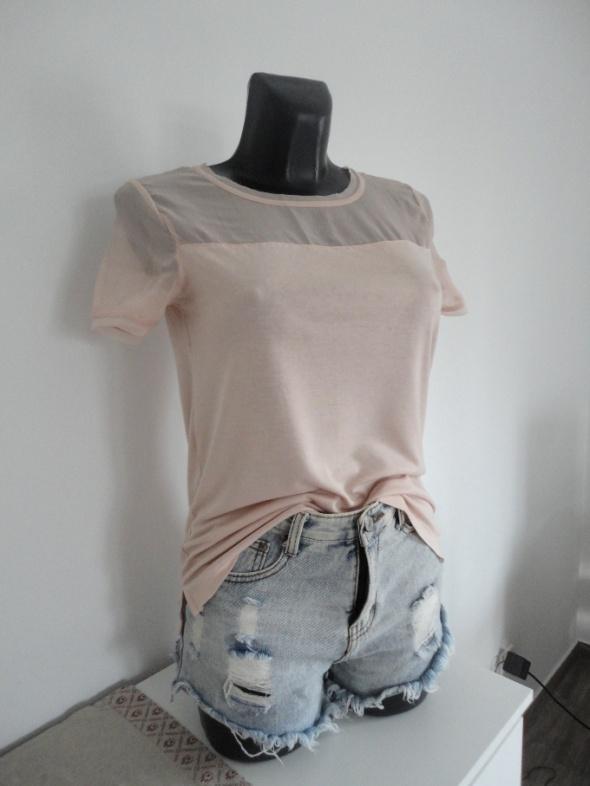 H&M brudny róż bluzka z zipem z tyłu S