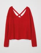 H&M Czerwony sweter w prążki Rozmiar XS lub S...