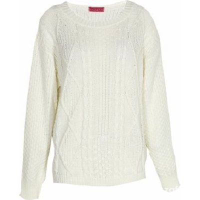 NOWY klasyczny biały sweter zara oversize