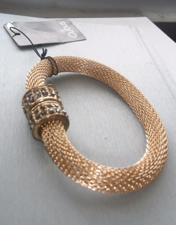 Złota bransoletka na magnes