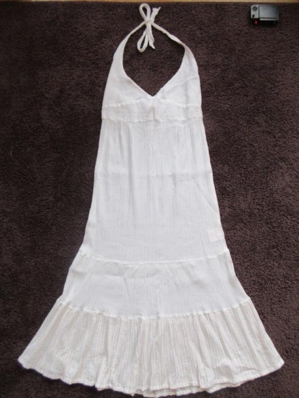 Sukienka plażowa zwiewna przeświecająca roz M...