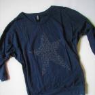 nowa bluzka nietoperz cekiny gwiazda S M L