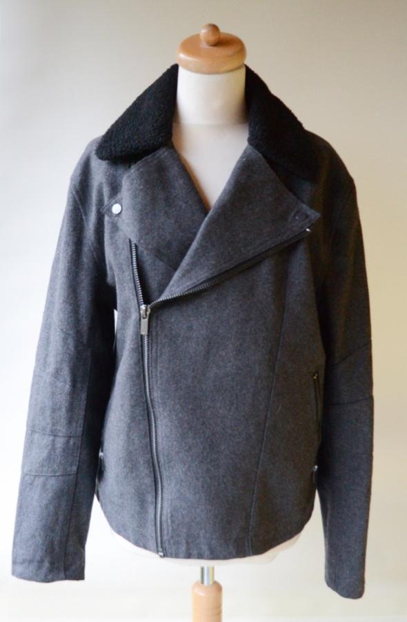 Płaszcz Męski Szary Elegancki H&M 52 XL Kożuszek