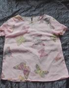 Szyfonowa bluzeczka motyle S...