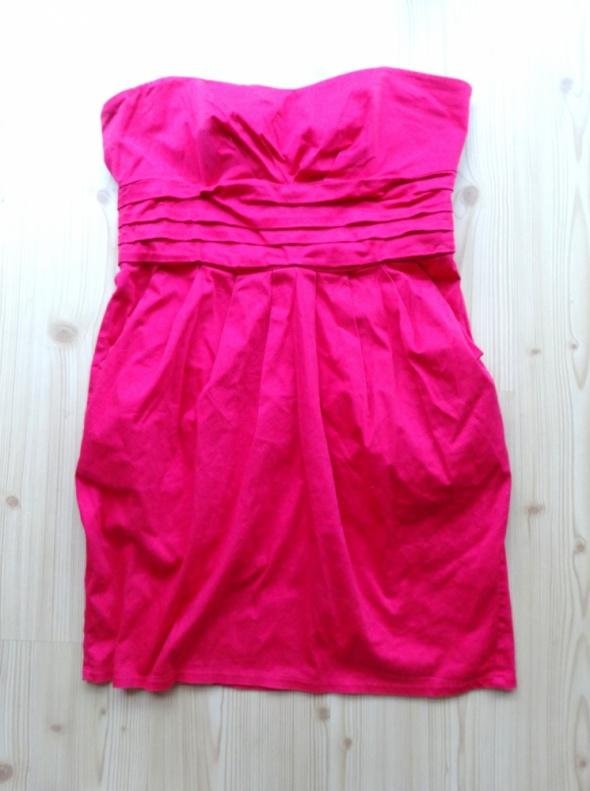 różowa elegancka sukienka 42 xl New Look wesele
