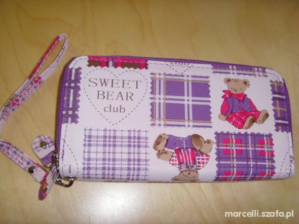 Slodziak Portfel LILA ROZ Sweet Bear Club