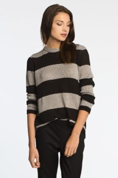 Sweter w paski Zip NOWY z metką...
