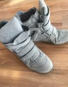Sneakersy jak isabel marant zamsz