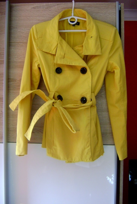 żółty płaszczyk wiosna