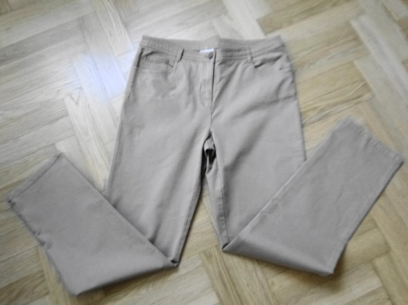 Jak nowe wysoki stan spodnie dzinsowe beżowe 40 do 42 klasyczne