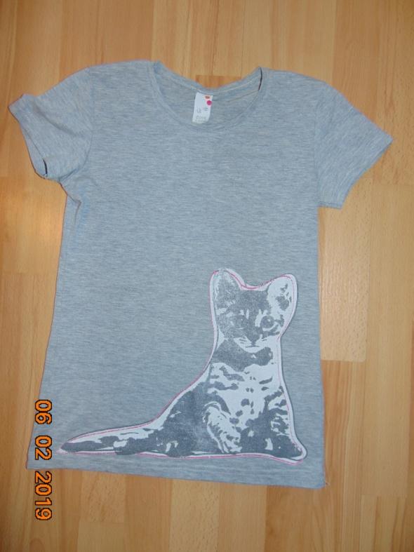 Szara bluzka z Kotem...
