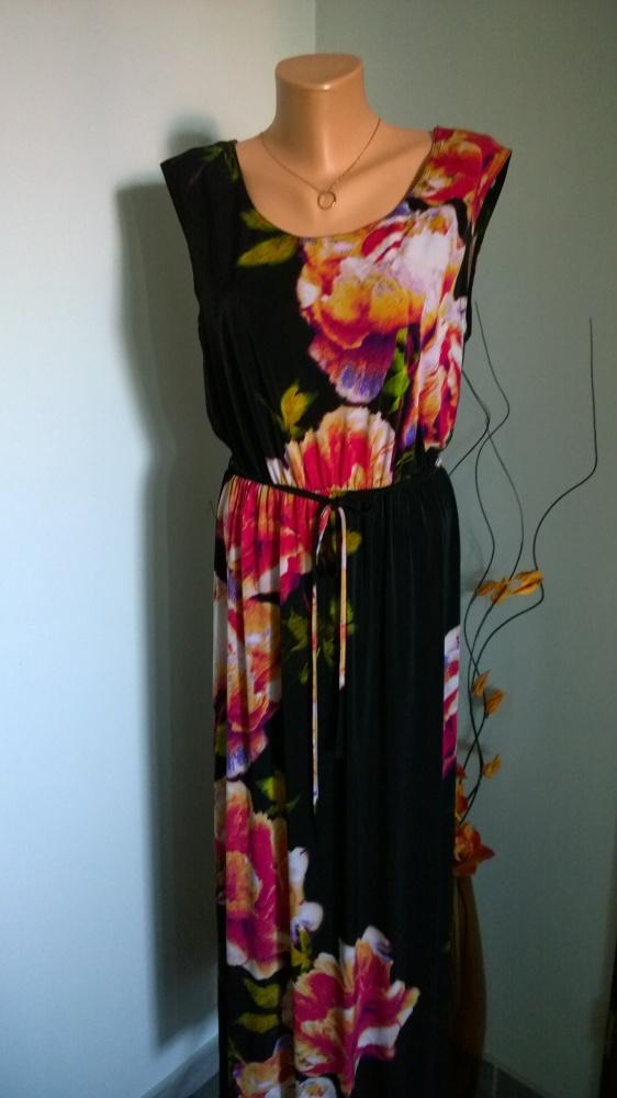 sukienka maxi kwiaty...