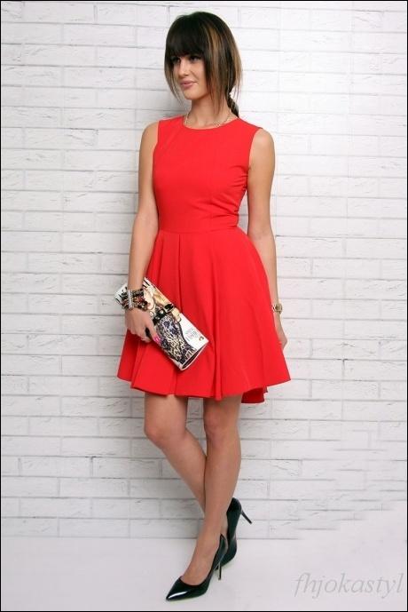 d8a5028b02 ŚLICZNA CZERWONA asymetryczna sukienka M 38 w Suknie i sukienki ...