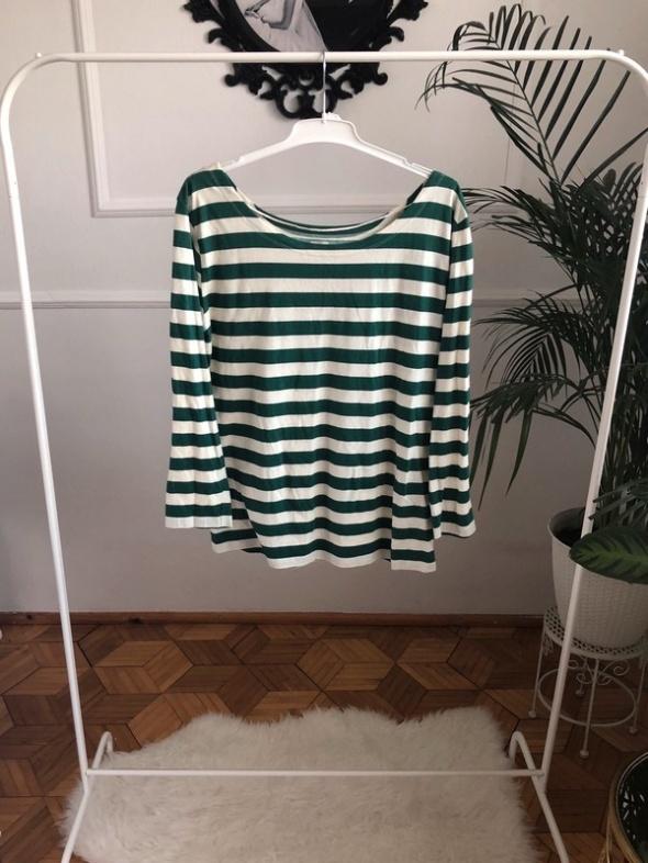 Bluzki Bluzka w zielono biale paski