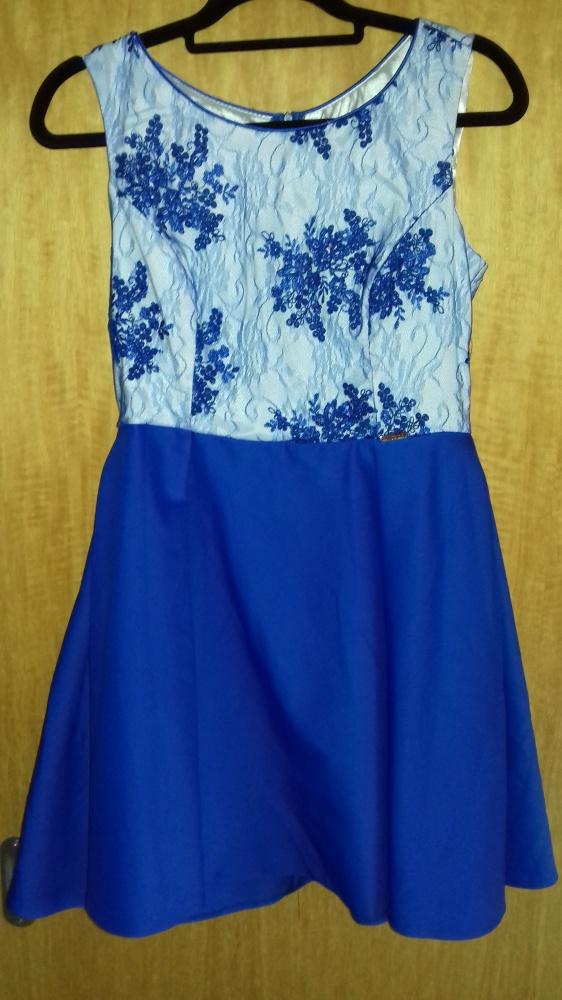 chabrowa sukienka z kieszeniami