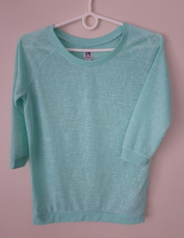 Miętowa bluzka Cropp miętowy sweterek Cropp
