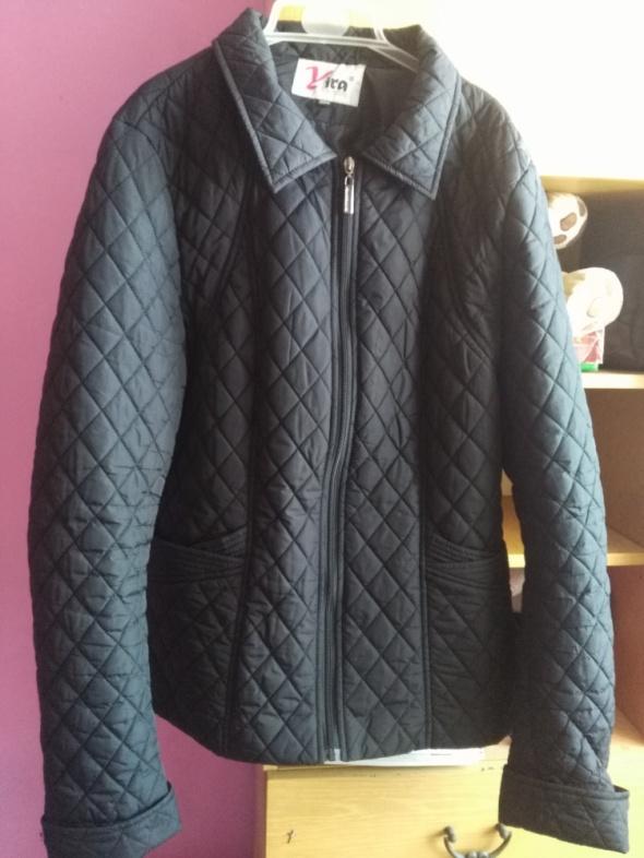 kurtka pikowana czarna