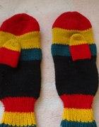Rękawiczki dwa palce rasta reggae punk