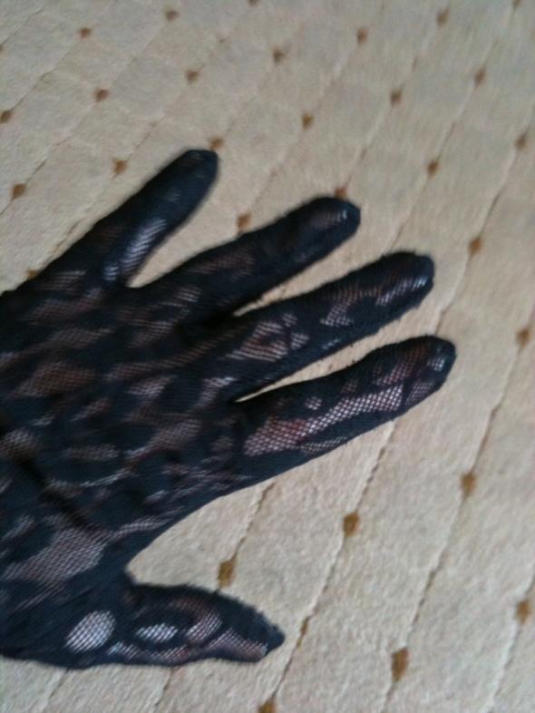 rękawiczki z koronki czarne