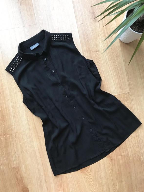 Yessica czarna koszula letnia pagony M