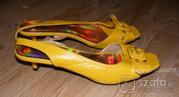 śliczne nowe żółte buciki r 41