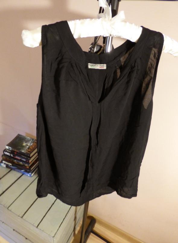 Czarna koszulka Made In Italy luźna zwiewana M S...