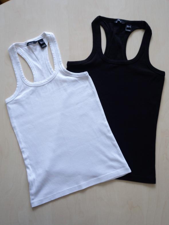 1810c9af4e66e6 Bluzki MANGO S 36 komplet 2 bluzki bokserki jak nowe biała i czarna