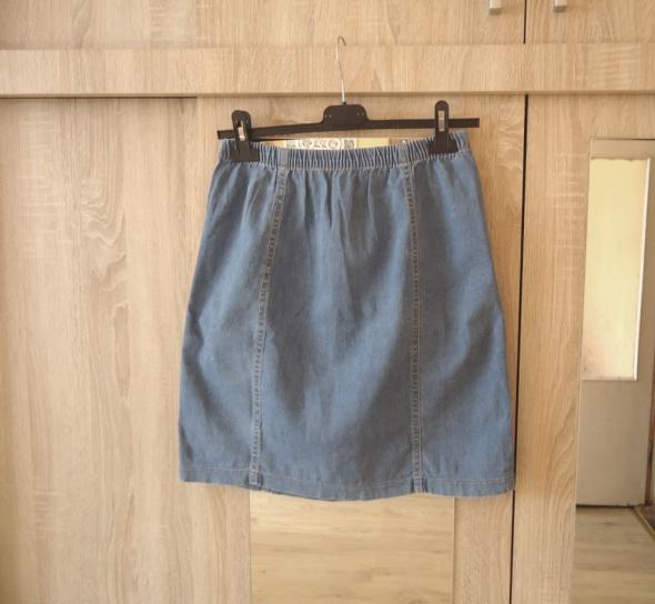 spódnica jeansowa lekko rozkloszowana M L denim