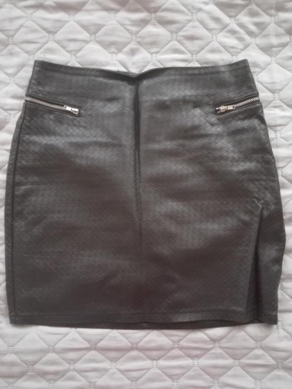 Spódnice Skórzana spódnica h&m