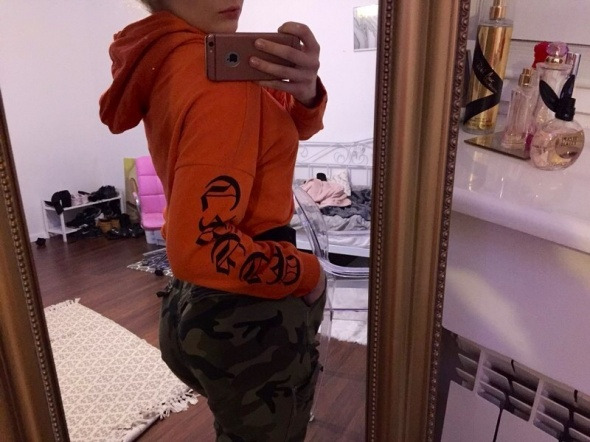 Bluza crop h&m Orange
