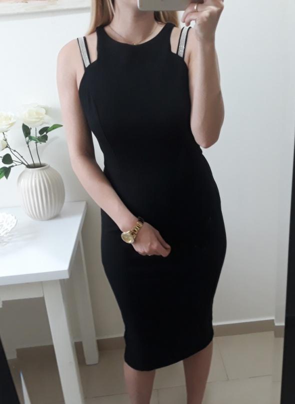 River Island sukienka dopasowana czarna elegancka M L