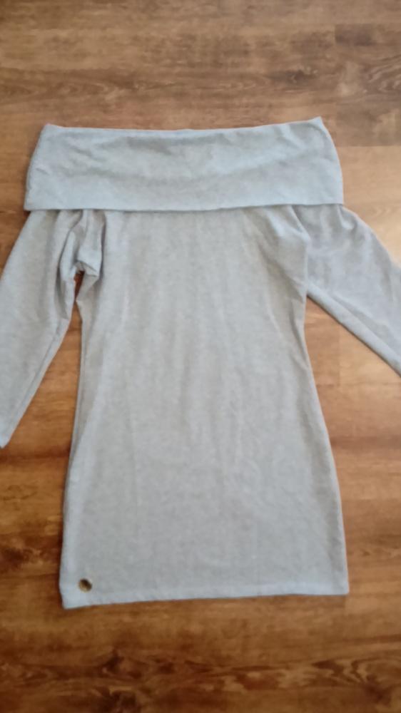 Szara sukienka hiszpanka