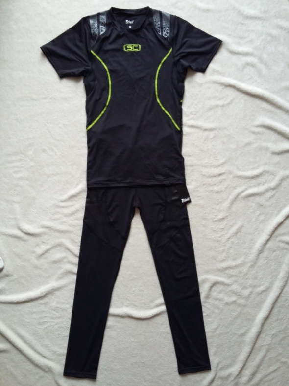 Dresy strój kompresyjny dres sportowy do biegania i ćwiczeń zestaw crivit