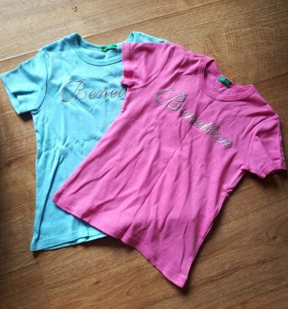 Zestaw dwóch koszulek Benetton 110 cm...