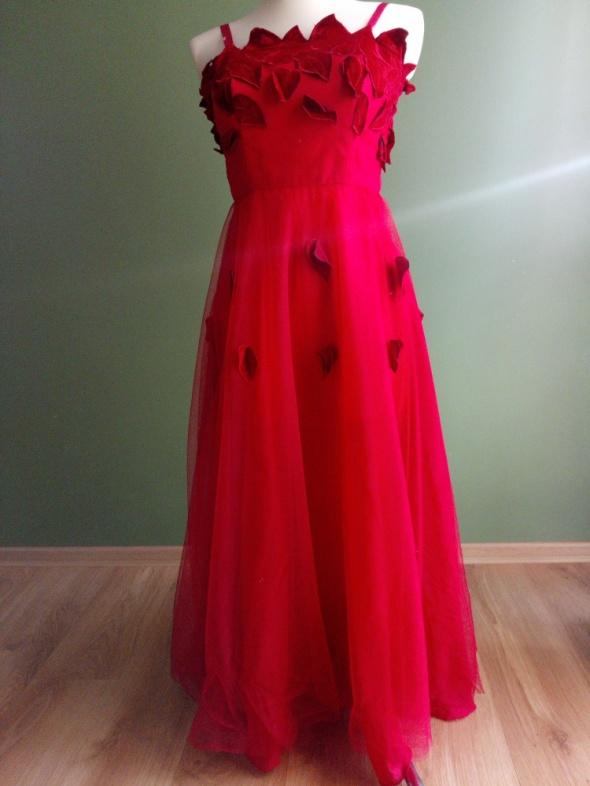 Suknia balowa na karnawał z szyfonu 36