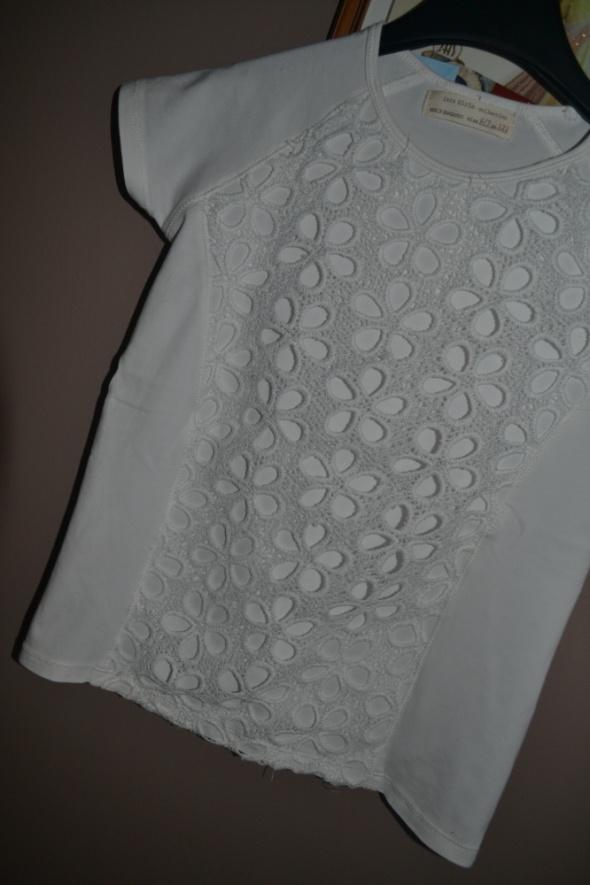 Bluzki Zara bluzka biała jNowa 122cm 128cm 6 7 8 lat