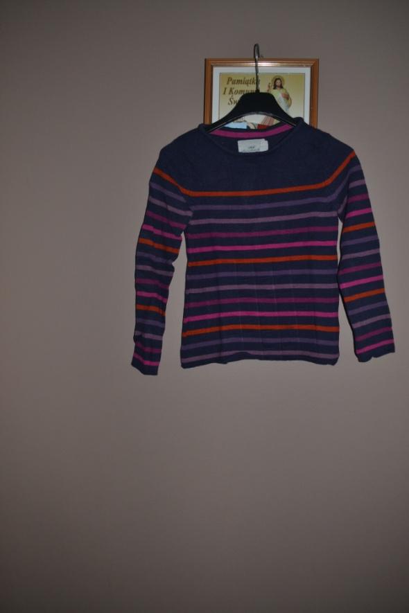 Sweterek w paski H&M 128cm 134cm 140cm